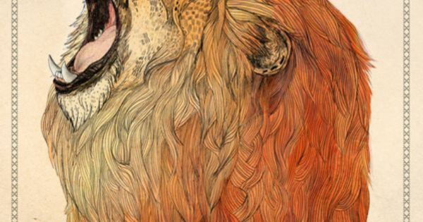 """Birthday Lion"", by Sandra Dieckmann illustration lion SandraDieckmann"