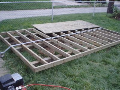 How to build a shed floor and shed foundation building for Types of shed foundations