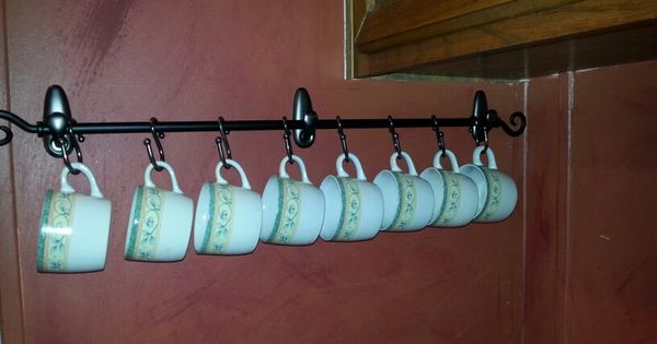 three command hooks and a cheap curtain rod plus s hook