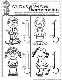 January Preschool Worksheets | Preschool weather, Weather ...