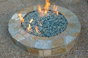 Fire Pit Glass Rocks My Friend Has These In Her Newly Re Done