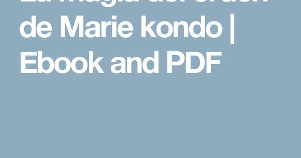 La magia del orden de marie kondo ebook and pdf y yo q for Libros de marie kondo