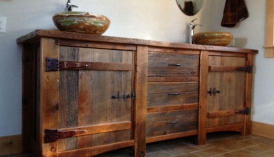 Old Barn Wood Vanities Furniture Bathroom Vanities Heritage Collection Reclaimed Wood Vanity