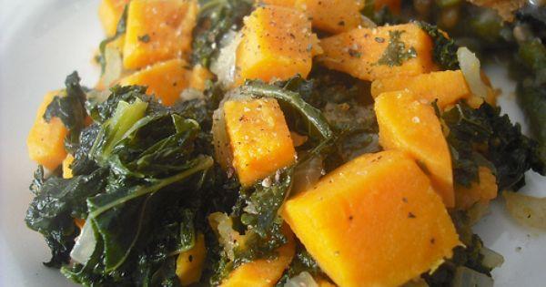 Kale, Potatoes and Sweet on Pinterest