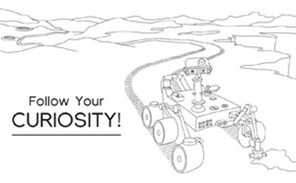 Click To Download Follow Your Curiosity Coloring Sheet