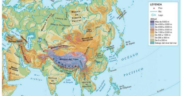 Mapas Fisicos Politicos Y Mudos De Asia Mapa De Asia Mapas Y