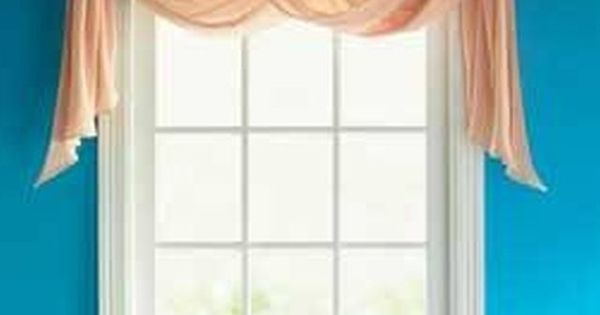 How To Hang A Rod For A Window Scarf Scarf Valance Valance And Window