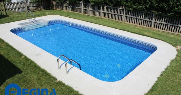 Rectangle Shaped Vinyl Liner Swimming Pool Located In Perry Hall Md Baltimore County