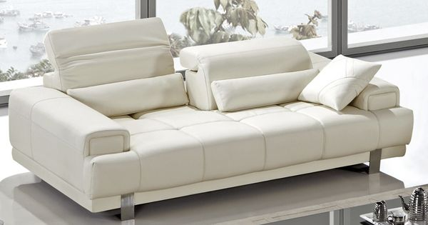 Contemporary Recliner Sofas Orion Modern Reclining Ivory