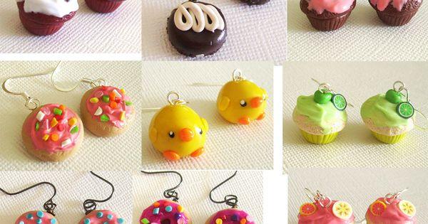 miniature cupcake earrings.