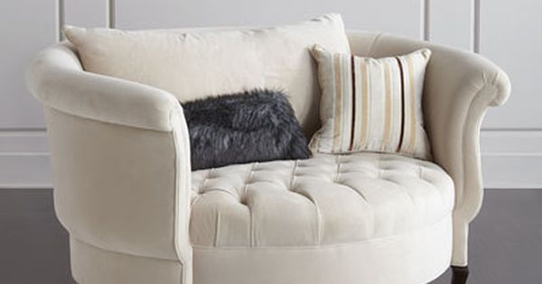 Haute House Harlow Ivory Cuddle Chair Puffy Couches