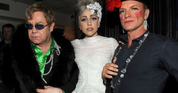 Elton John Lady Gaga and Sting | Celebs, Elton john, Celebrities