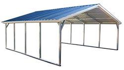 18x31 Vertical Style Metal Carport Alan S Factory Outlet Metal Carports Steel Carports Carport
