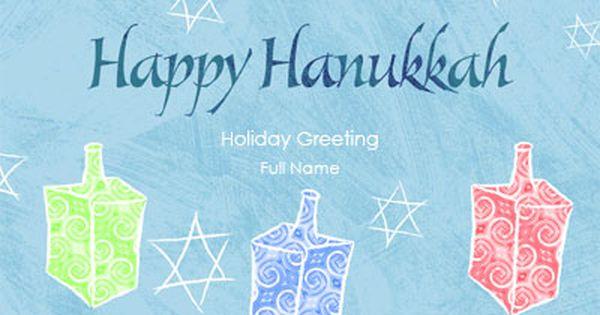 Happy Hanukkah Custom Holiday Greeting Cards Greeting Card Template Holiday Greeting Cards Holiday Greetings