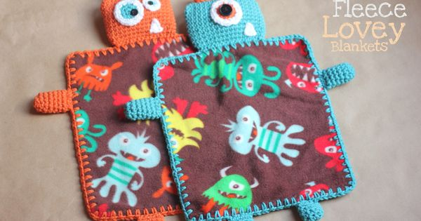 Monster Fleece Blanket - easy crochet pattern, just adding crocheted edging to