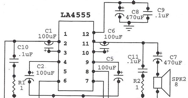 la4555 audio amplifier mono circuit
