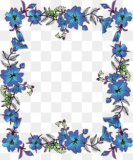 10+ Best For Blue Flower Border Design Png