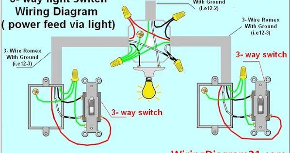 3 Way Light Switch Wiring Diagram Circuit Electrical With Images Home Electrical Wiring Electrical Wiring Diagram Electrical Wiring