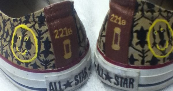 Sherlock inspired Converse All Stars by WhiskyFoxtrot on Etsy, $95.00... Want, want,