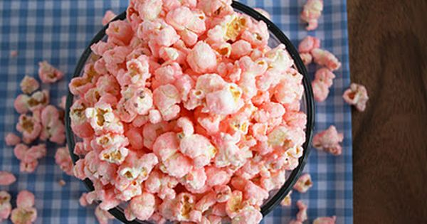 Old Fashioned Pink Popcorn - Cooking Classy [[good for a baby shower