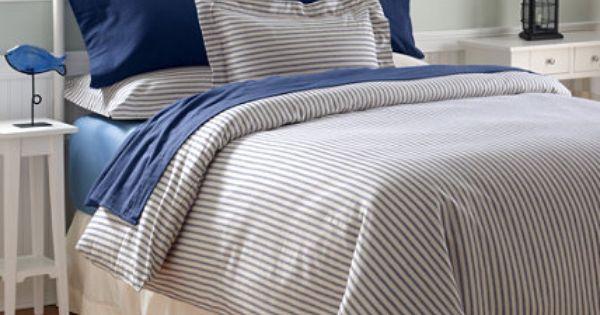 Ultrasoft Flannel Comforter Cover Ticking Stripe
