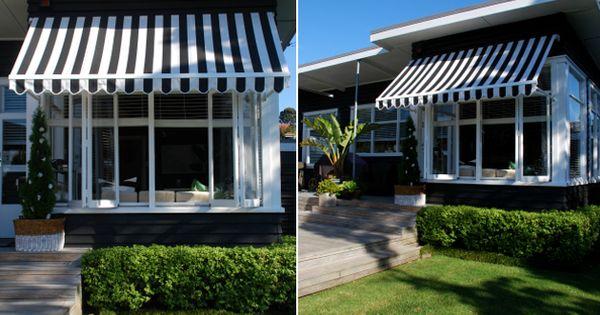 A Slice Of Paradise Jen S Bach House Awnings Modern Beach House Brick Exterior House