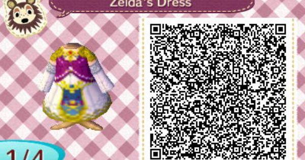 yellow dress qr code ne leaf zelda