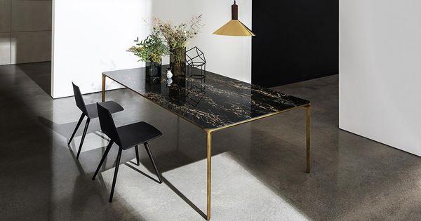 Slim Glass Dining Table Sovet Nel 2020 Tavolo Da Pranzo In
