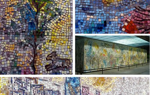 Marc chagall mosaic chicago chicago chagall wall four for Chagall mural chicago