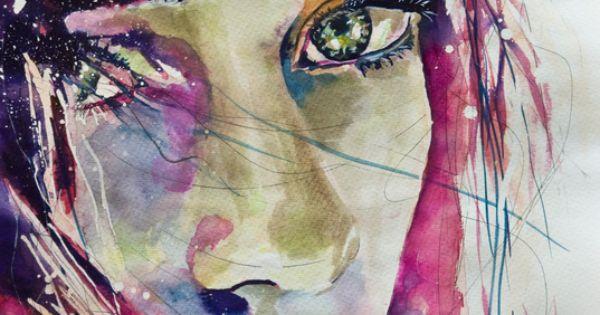 """Saatchi Online Artist: Sonja De Graaf; Watercolor 2012 Painting """"Lost in her"""