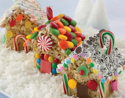 Rice Krispy Treat Houses - easier to make and more fun to