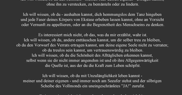 die einladung - oriah mountain dreamer | words (german) | pinterest, Einladung