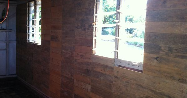 Pallet Shed Man Cave : Cladding shed wall with pallet boards our aussie