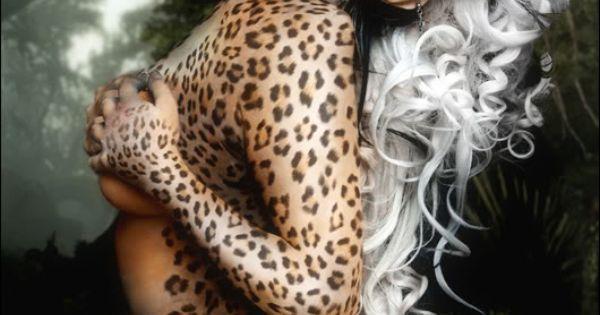 leopard body paint | Animal Print Fetish | Pinterest ...