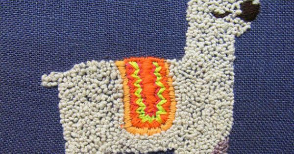Alpaca embroidery artsy fartsy pinterest alpacas