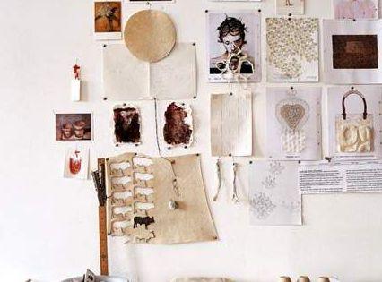 An inspiring inspiration wall for art studio