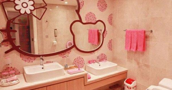 Hello Kitty Bathroom Decor Ideas : My nieces would go crazy over this bathroom kids decor