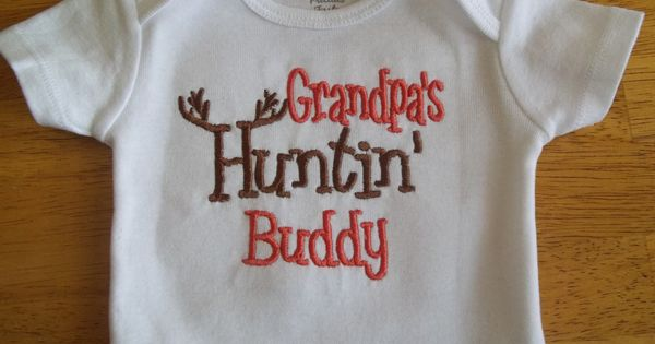 Grandpa's Hunting Buddy Baby Boy or girl Hunting Onesie by babytweets. Yes