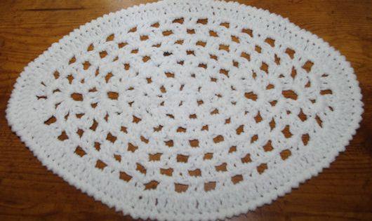 Crochet Oval Afghan Pattern : Oval Granny Doily Crochet Pattern - Free Crochet Pattern ...