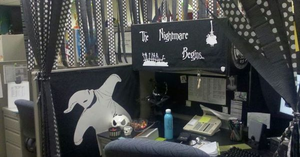nightmare before christmas cubicle decor pinterest