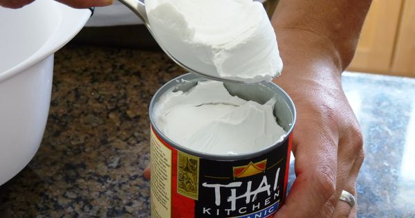Whipped cream made from coconut milk. People, if you haven't tried it,