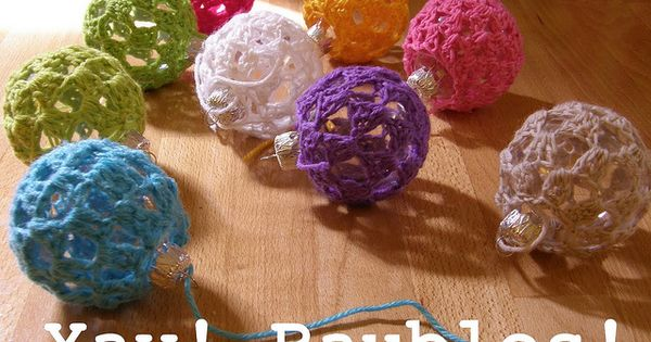 Crocheted Christmas Ornaments….I'm going to COVER our tree in these and make