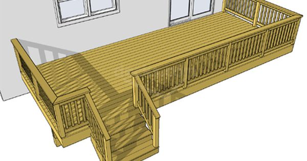 Free Deck Plan 1la2410 Building A Deck Outdoor Living Deck Deck Cost