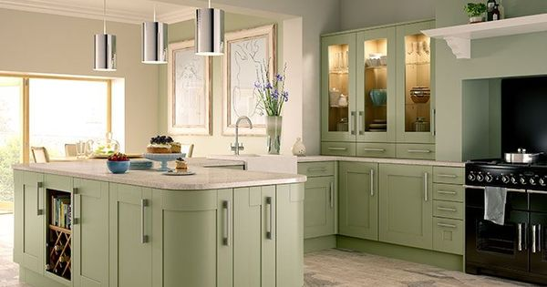 Tiverton sage green kitchen norfolk for Wickes kitchen cupboards