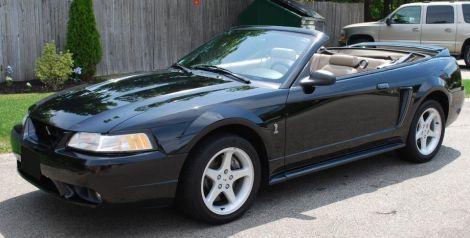 1999 Ford Mustang Convertible Black Mustang Gt Black Mustang Ford Mustang Cobra