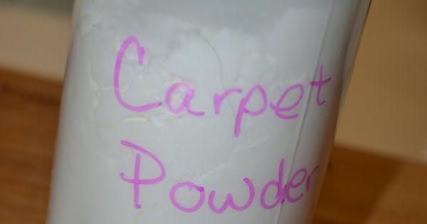 Even though my next home will be carpet free...Homemade carpet cleaner, if