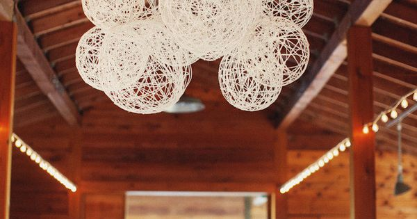 DIY String Laterns For Rustic Wedding Decor: DIY Wedding Decoration Ideas for