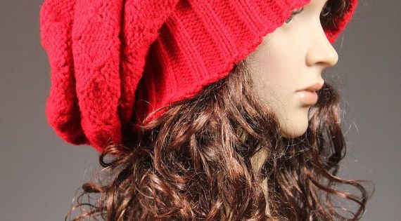 Slouchy Beanie Slouch Hat for Women and Girls by GoKnitsDotCom, $63.00