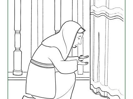 Hannah Prayed For A Baby Coloring Page