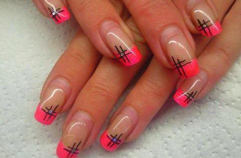 Manicura francesa en color rosa 17 im genes manicura - Manicura francesa colores ...